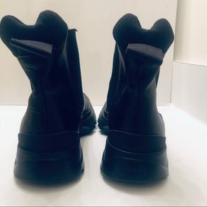 Prada Shoes - Prada Mens Ankle Boots In Black Calf Leather
